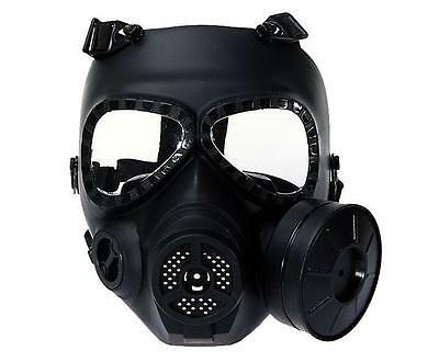 Airsoft Paintball Wargame Cosplay Gas Mask Anti-Fog Turbo Fan Protective Gear