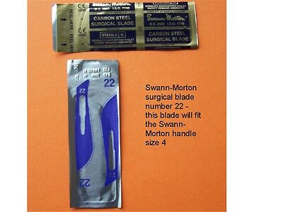 10 X Swann-Morton Blades #22 - Scrapbooking / Model / Paper Craft