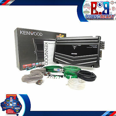 New Kenwood Kac-Ps647 500W 4 Channel Car Audio Stereo Amp Full Local + Kit