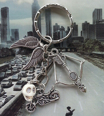 The Walking Dead Inspired Key Ring/Chain-Daryl Dixon-Bike/B&A/Wings/Zombie Skull