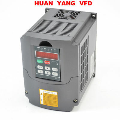HuanYang 1.5KW 220V VARIABLE FREQUENCY DRIVE INVERTER VFD 2HP 7A