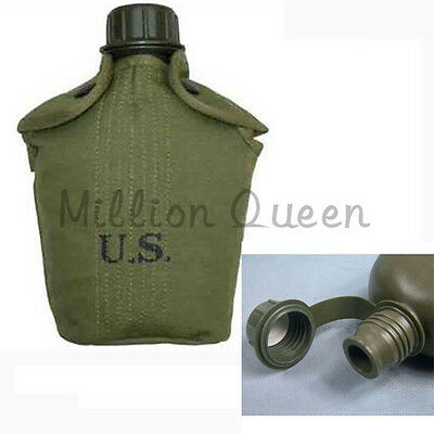 American US Army Water Bottle And Cover Repro Canteen XG