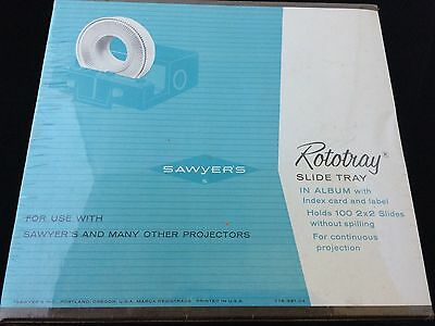 VTG NOS Sawyer Projector Rototray 100 Slide Tray for 2x2 Slides Factory Sealed