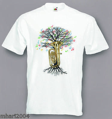 Tuba T-shirt Musical Tree Tubaist in sizes Small to XXL