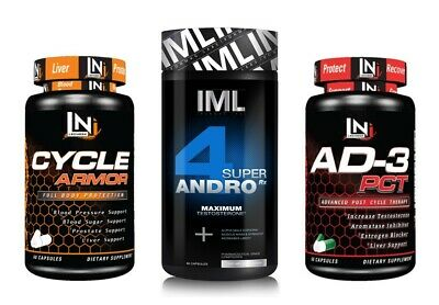 Iron Mag Labs 4-Andro Complete Cycle stack.  IML, supplements, bodybuilding