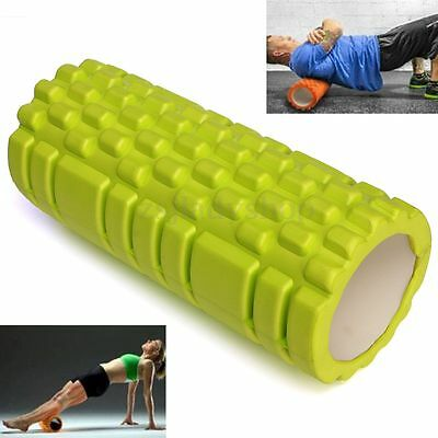 "Grid Trigger Point 13"" x 5"" EVA Yoga GYM Foam Roller Pilates Fitness Massage New"