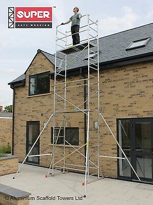 Super eDIY 4M to 7M Stiffener Aluminium Scaffold Tower / Towers - British Design