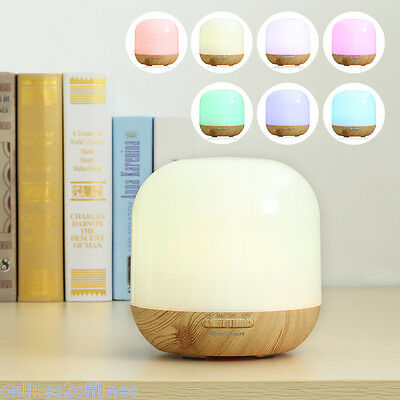 LED Essential Oil Aroma Diffuser Ultrasonic Humidifier Air Mist Purifier Timer