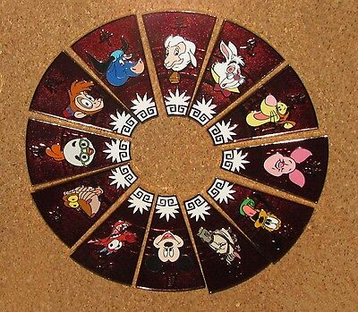A8 Disney Zodiac Chinese 12 Pins Set Complete Rare