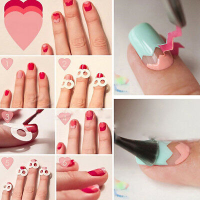 15 Sheet 3D Nail Art Transfer Stickers French Guides Tips Manicure Decal Set Kit