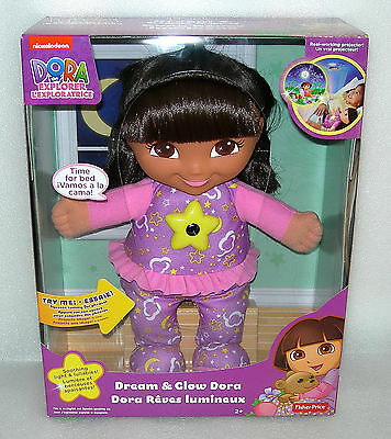 Dora the Explorer Dream and Glow Dora - Lights and Phrases Doll - NIB