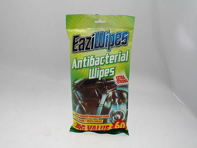 24 x 60 pk Disposable Cleaning Wipes choose from 10 different types by Eaziwipes