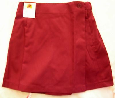 Girls School Uniform Maroon Sports Skort Raylex Australia Size 10, 14