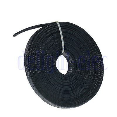 10M Practical Braided Sleeving Cable Harness Sheathing Expanding Sleeve 10mm DH