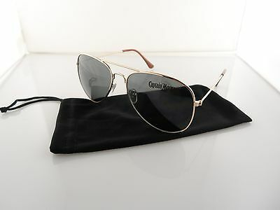 4) Captain Morgan Aviator Sunglasses with Micro Fiber Sleeves Not Beer Goggles