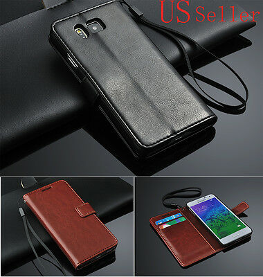 For Samsung Galaxy Alpha G8508S SM-G850F Stand Card Flip PU Leather Case Cover