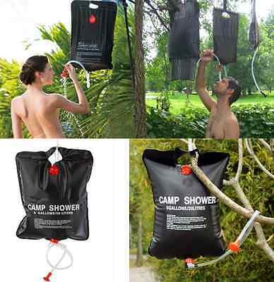 20L Solar Heated Portable Camping Shower Bag Outdoor Hiking PVC Water Bag one hs