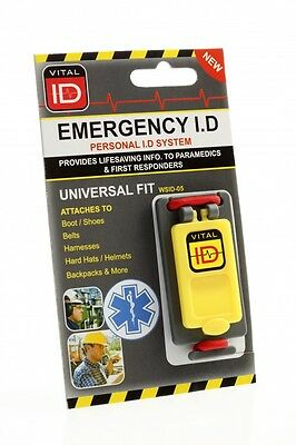 Vital ID 'Universal Fit' Worker Accident Emergency ICE Tag WSID-05