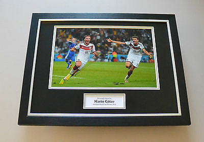 Mario Gotze Signed Framed 16x12 Photo Autograph Germany Memorabilia Display +COA