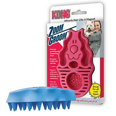 KONG ZoomGroom Best Shampoo/Grooming Brush Available Moulting Brush