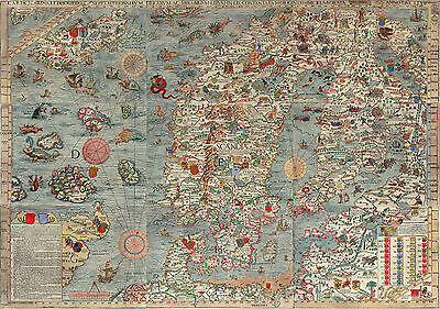 Ancient Europe Map Giant Poster Art Print - A0 A1 A2 A3 A4 Sizes