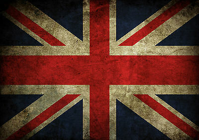 Union Jack British Flag Giant Poster Art Print - A0 A1 A2 A3 A4 Sizes