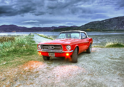 CAR POSTER FORD MUSTANG Photo Picture Poster Print Art A0 A1 A2 A3 A4 AA786
