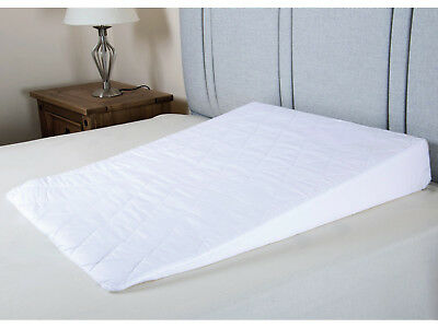 Sleep Wedge with Quilted Cover Foam Support Pillow Acid Reflux Mattress Tilter