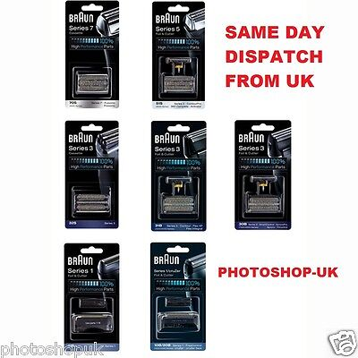 Genuine Braun Replacement Shaver Heads - ALL MODELS - Same Day Dispatch