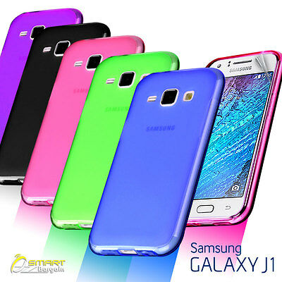 Matte Gel Case Cover For Samsung Galaxy J1 J100Y Frosted TPU Jelly Soft + ScrnGd
