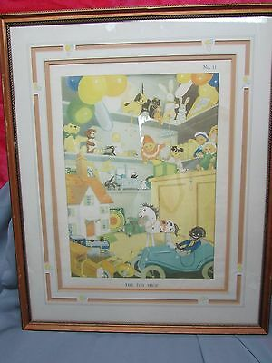 The Toy Shop #11 Childs Art Print / Lithograph. Nice 4 Nursery, Great Color.