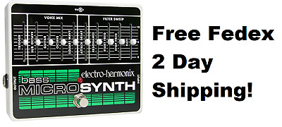 New Electro-Harmonix EHX Bass Microsynth Analog Micro Synthesizer!