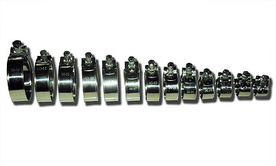 (1) Heavy Duty Stainless Steel T-Bolt Hose Clamps - Free Choice of Sizes