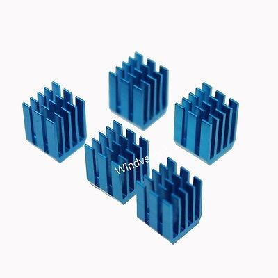 10pcs 12mm 9x9x12mm adhesive Blue Aluminum Heat Sink For CPU Memory Chip IC NEW