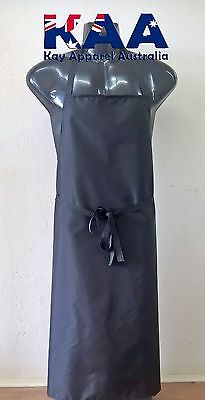 Butchers Apron BLACK Cleaning/Butchers/Deli 105x80cm *MADE IN KINGAROY QLD*