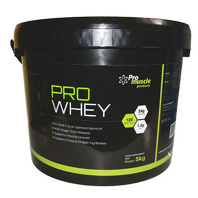 Pro Whey 100% Protein Powder Shake Anabolic Muscle Growth 5Kg - All Flavours