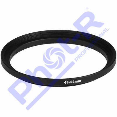 Phot-R 49-52mm Metal Stepping Step-Up Ring Camera Filter Lens Adapter DSLR SLR