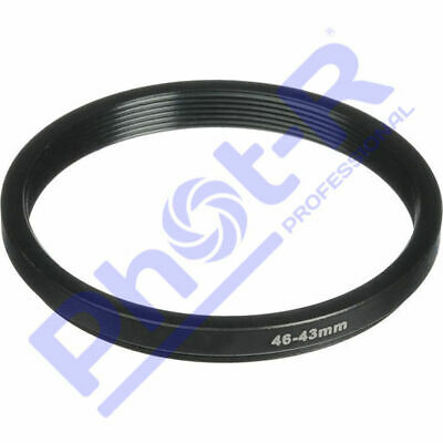 Phot-R 46-43mm Metal Stepping Step-Down Ring Camera Filter Lens Adapter DSLR SLR