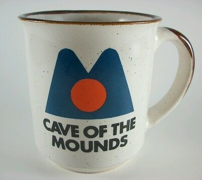 Vintage Cave of the Mounds Wisconsin Natural Landmark souvenir coffee mug cup