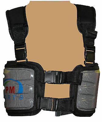 karting/Racing Carbon Kevlar Rib Protector with Adjustable Straps in black