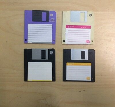 """Lot of 4:1.44MB IBM Format PC MS-DOS Startup 3.5"""" Formatted Floppy Bootable Disk"""