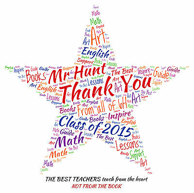 Personalised Thank You Teacher Word Art Print -  STAR