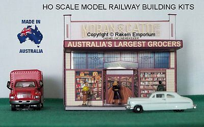 HO Scale Moran & Cato Grocery Shop Model Railway Building Kit - HOMC1
