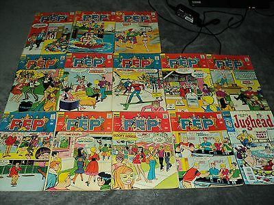12 Vintage Archie Series Pep Comics From 1970 And Up Plus One Extra