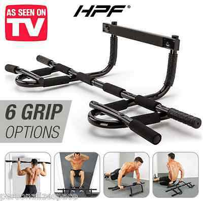 Portable Chin Up Bar Home Door Pull Up Dip Abs Exercise Doorway Wall Mounted AU