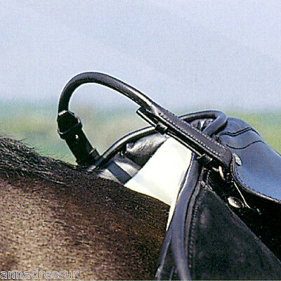 Rolled Leather Balance Strap Aids Confidence & A Secure Seat, Black or Brown