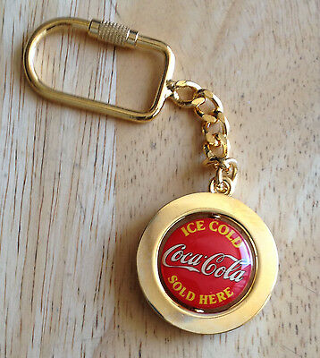 "New Coca Cola ""Spinning Round Logo"" Keychain, 4 1/2"" Tall"
