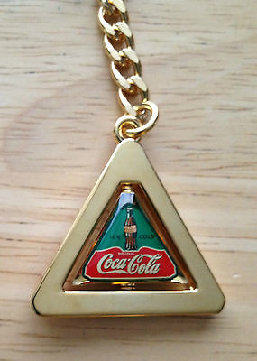 """New Coca Cola """"Spinning Triangle"""" Keychain, 4 1/2"""" Tall"""