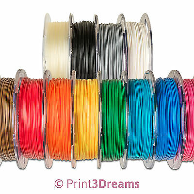 3D Printer Filament PLA, 1.75mm, 12 Colours, 10m - 0,5kg Stock Clearance