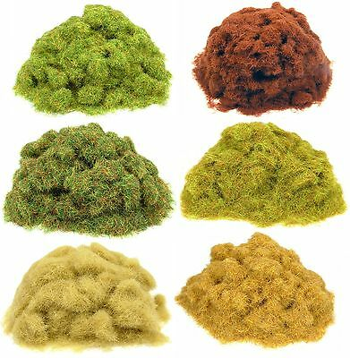 50g Static grass bags - Model scenery flock grass for railways and wargames